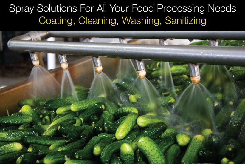 Spray Solutions For All Your Food Processing Needs