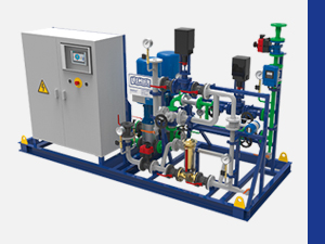 Pump and control skid units